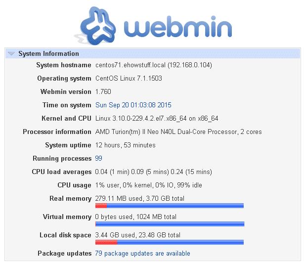 Install Webmin on CentOS 7