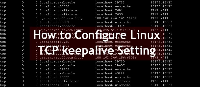 TCP keepalive Setting