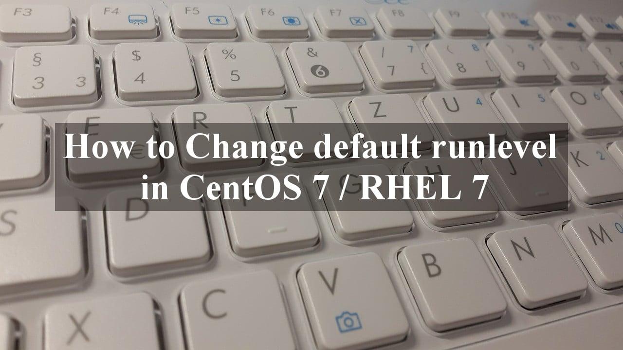 Change default runlevel