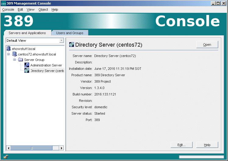 Setup 389 Directory Server